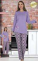 Жіноча котонова піжама на верхніх ґудзиках Le'Maries