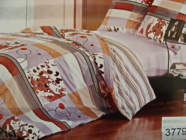 Комплект постельного белья ELWAY (Польша) Сатин полуторный (3779)