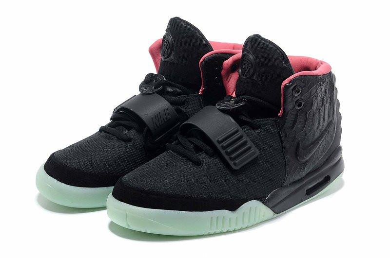 aec064e3 ☆ Купить Кроссовки женские Nike Air Yeezy 2 Черно-зеленые ...
