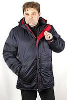 Куртка чоловіча зимова синя Avecs AV-70325 Dark blue Баталов Розміри 60 (маломер на 2 розмір)