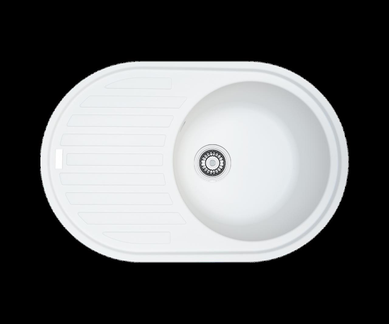 Кухонна мийка гранітна Borgio OVM-770x500 білий
