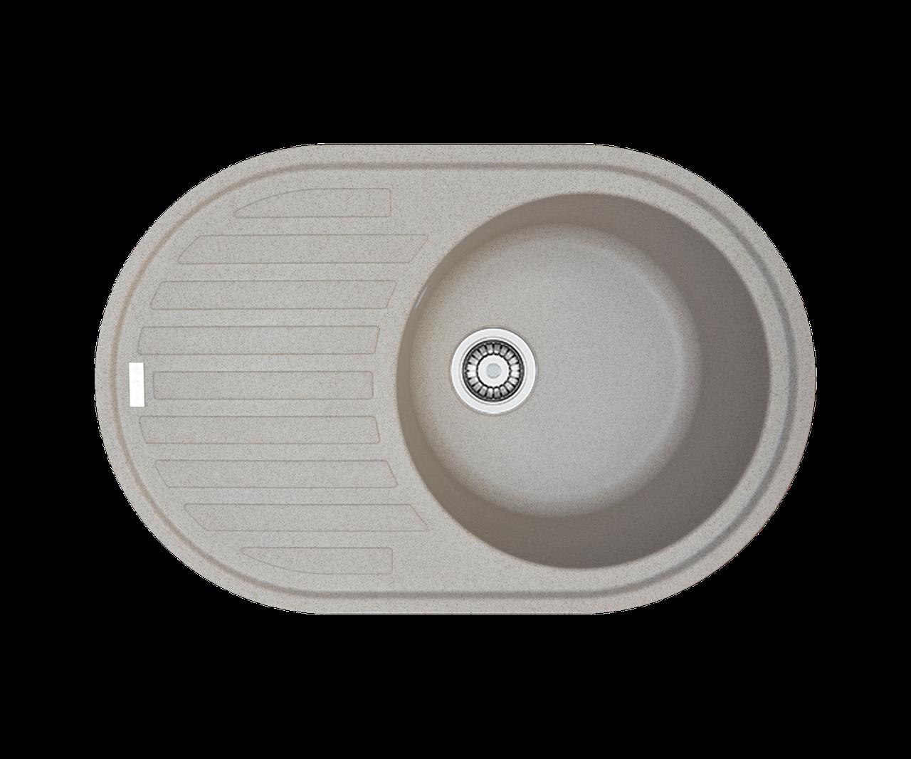 Кухонна мийка гранітна Borgio OVM-770x500 мигдаль