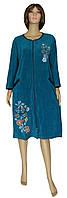 Новый дизайн женских велюровых халатов - серия Dream Flowers ТМ УКРТРИКОТАЖ теперь в изумрудном цвете!