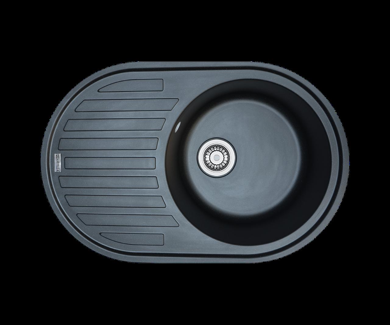 Кухонна мийка гранітна Borgio OVM-770x500 чорний