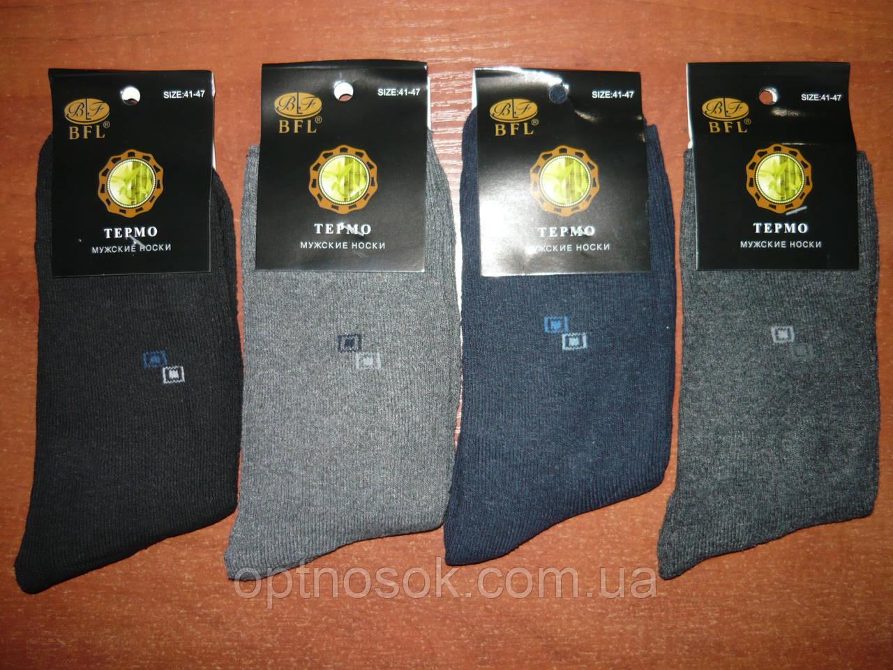 """Мужские махровые носки """"BFL"""". Хлопок. р. 41-47. Ассорти"""