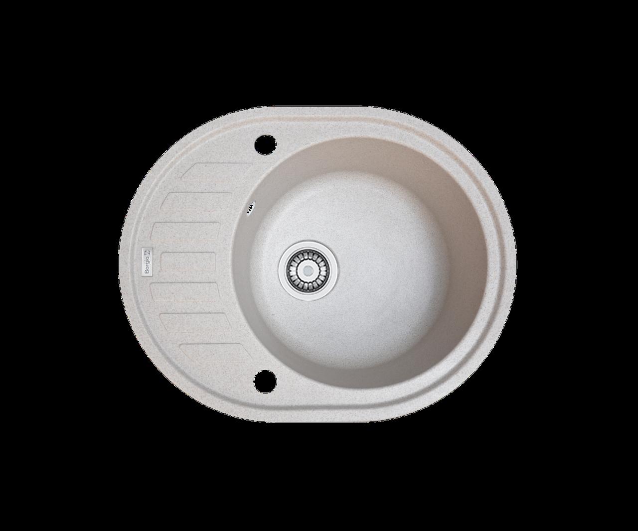 Кухонна мийка гранітна Borgio OVM-620x500 мигдаль