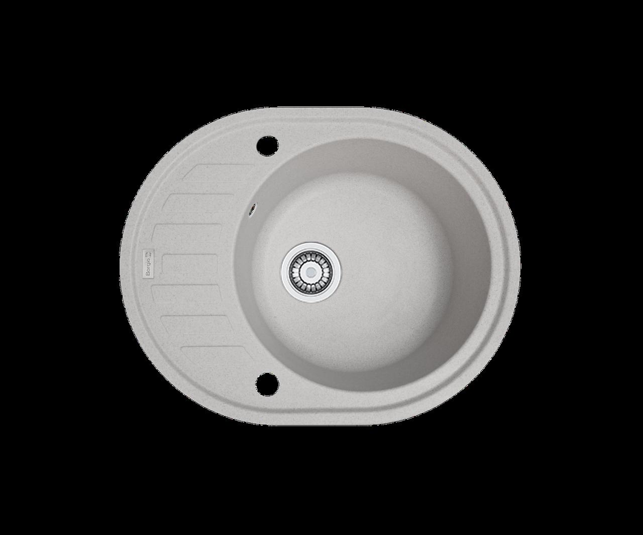 Кухонна мийка гранітна Borgio OVM-620x500 піщаний