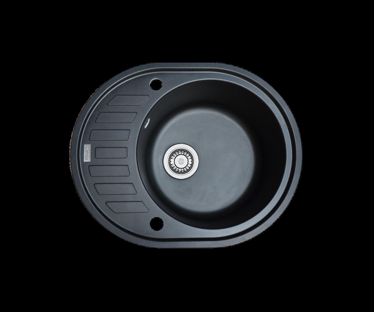 Кухонна мийка гранітна Borgio OVM-620x500 чорний