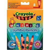 Карандаши цветные из красного дерева 8цв. Crayola Mini Kids 3678