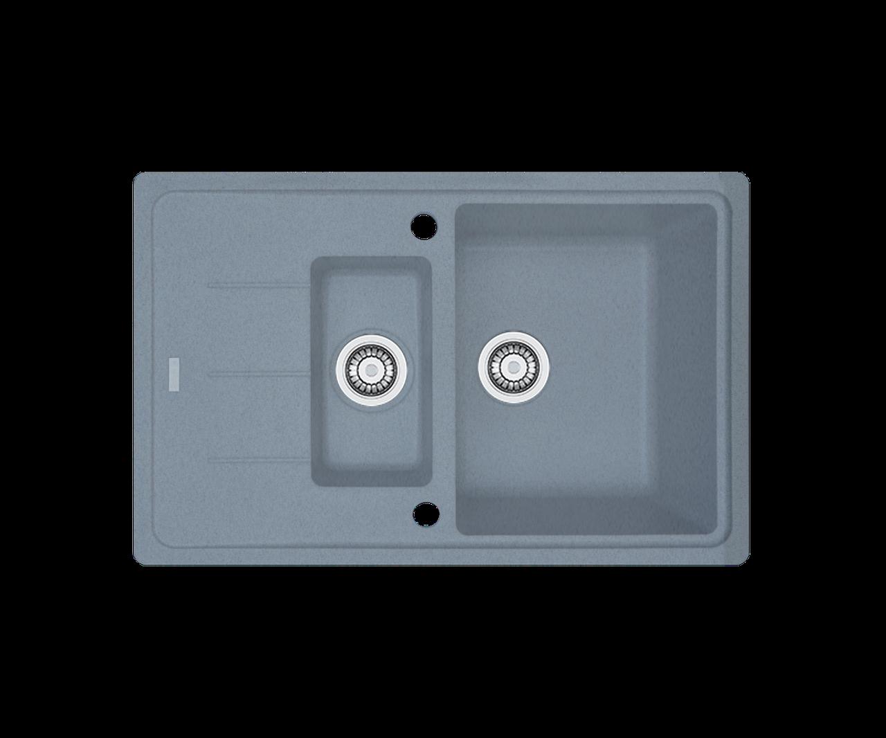 Кухонна мийка гранітна Borgio PRFC-780x500 сірий металік
