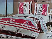 Комплект постельного белья ELWAY (Польша) Сатин полуторный (3037)