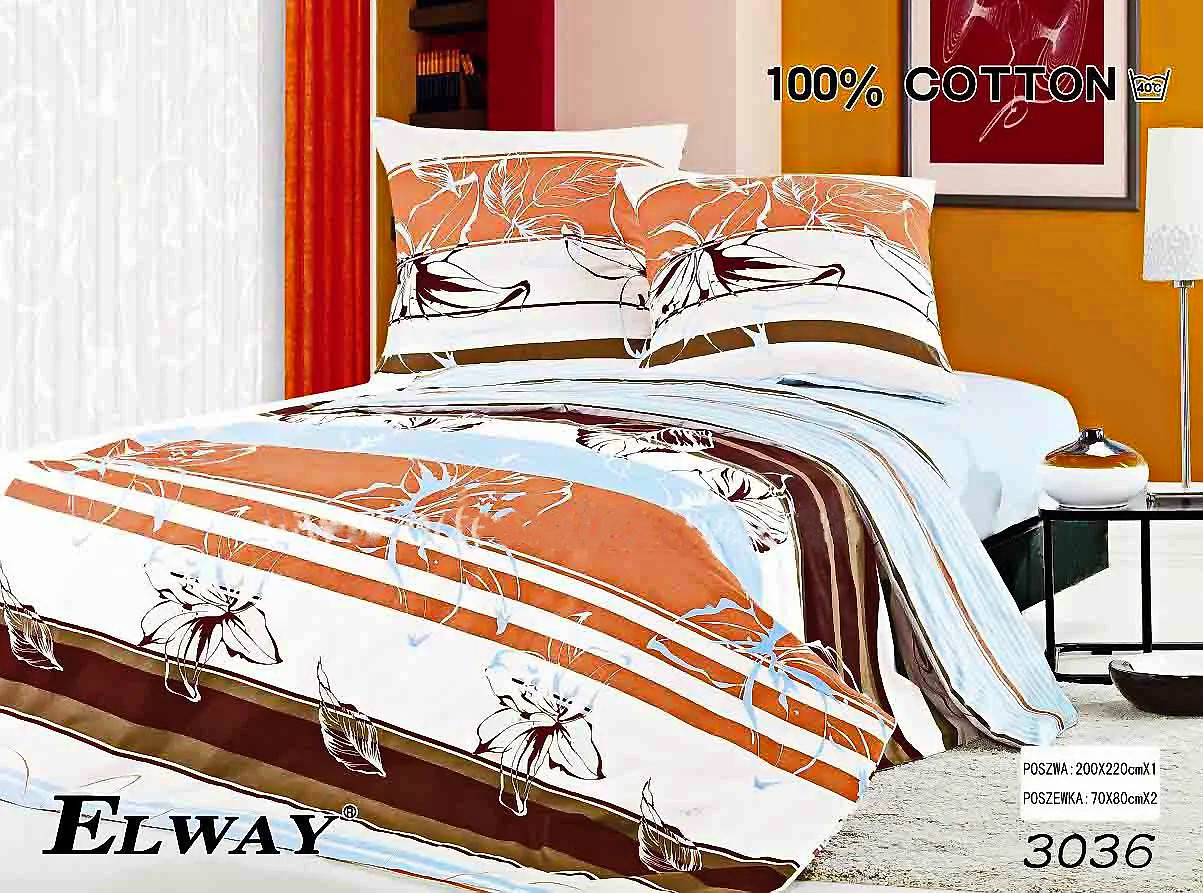 Комплект постельного белья ELWAY (Польша) Сатин полуторный (3067)