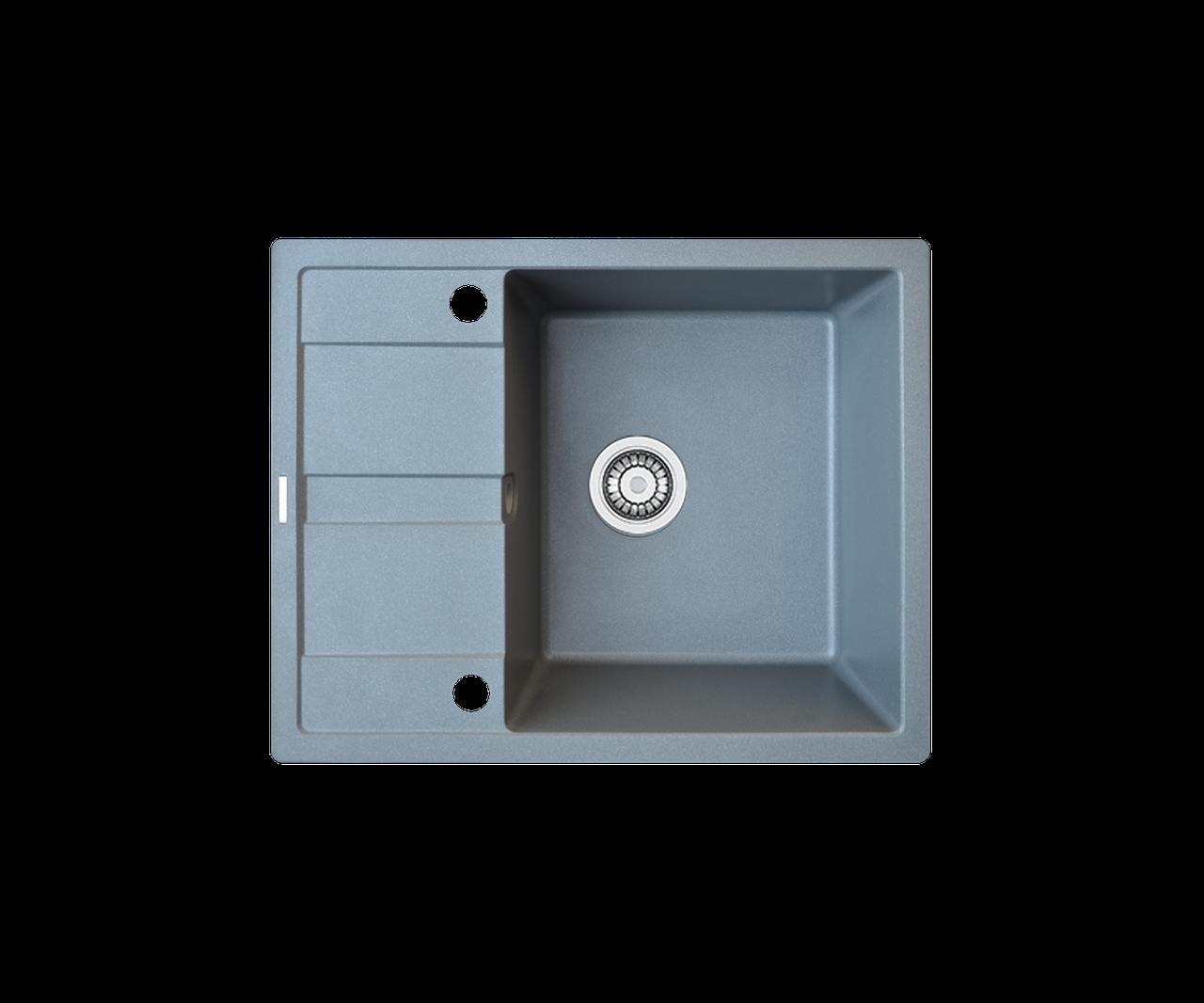 Кухонна мийка гранітна Borgio PRC-650x500 сірий металік