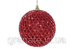 Елочные шары, цвет: красный 8 см (16шт)