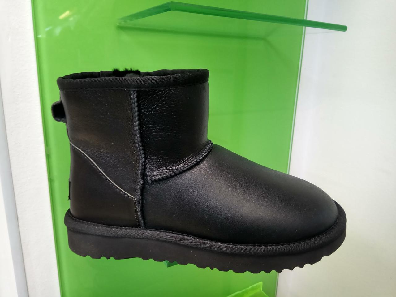 Мужские Угги UGG Australia Classic Mini Black Original Leather