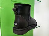 Мужские Угги UGG Australia Classic Mini Black Original Leather, фото 3