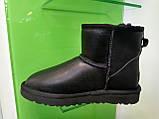 Мужские Угги UGG Australia Classic Mini Black Original Leather, фото 5