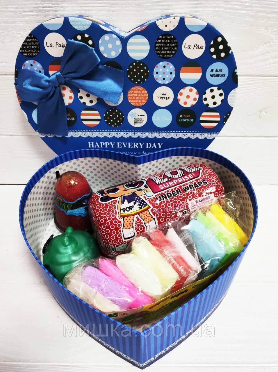 Подарочный набор к 8 Марта LOL Surprise, капсула, слайм, единорог, воздушный пластилин!