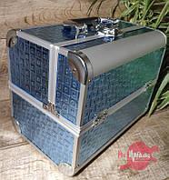 Кейс для мастера маникюра/визажиста/парикмахера металлический, большой, Светло-голубой, фото 1