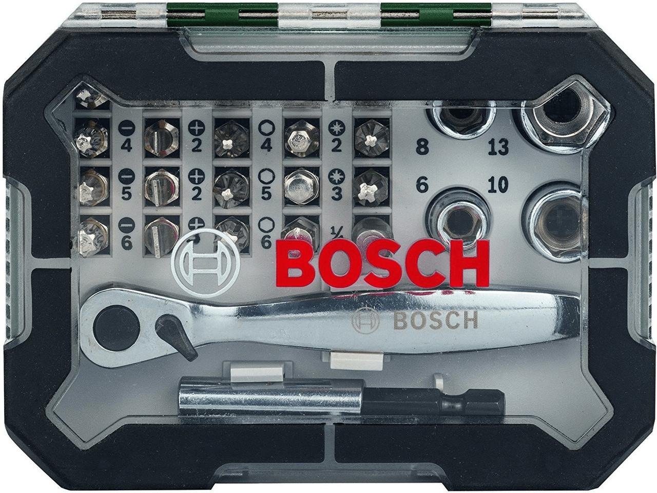 Набір біт та трещоток Bosch, 26 шт