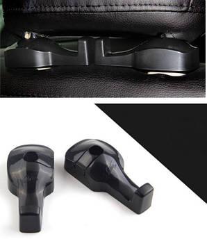 Крючки держатель для сумок в авто. Органайзер для пакетов на сидение автомобиля (черные)