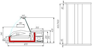 Барная витрина ВХС-1,5 Арго Люкс, фото 2