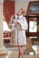 Шуба жилет из вуалевого песца,  рукава съемные, длина от плеча 100 см Blue fox fur coat and vest, фото 1