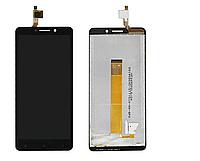 Дисплей (экран) для Oukitel C10 с сенсором (тачскрином) черный