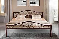 Кровать металлическая двуспальная Респект 160*200 см с ламелями без матраса
