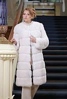 Шуба полушубок жилет из белого полярного песца Convertible Blue fox fur coat&vest , фото 1