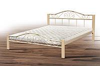 Кровать металлическая двуспальная Респект вуд 160*200 см с ламелями без матраса