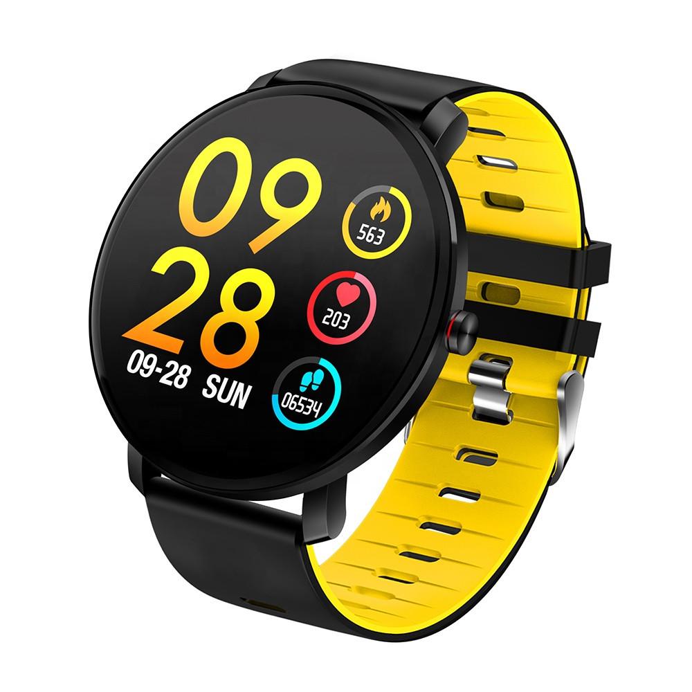 Смарт-годинник вологостійкі AZhuo Digital Smartwatch K9 IP68 Black/Yellow (B6091219)