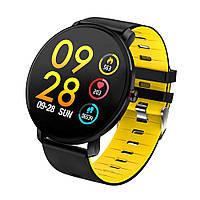 Смарт-часы влагостойкие AZhuo Digital Smartwatch K9 IP68 Black/Yellow (B6091219)