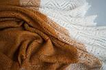 """Косынка пуховая теплая трехцветная П2-130-184 коричневая. Изготовление: ОАО """"Ореншаль"""", фото 3"""