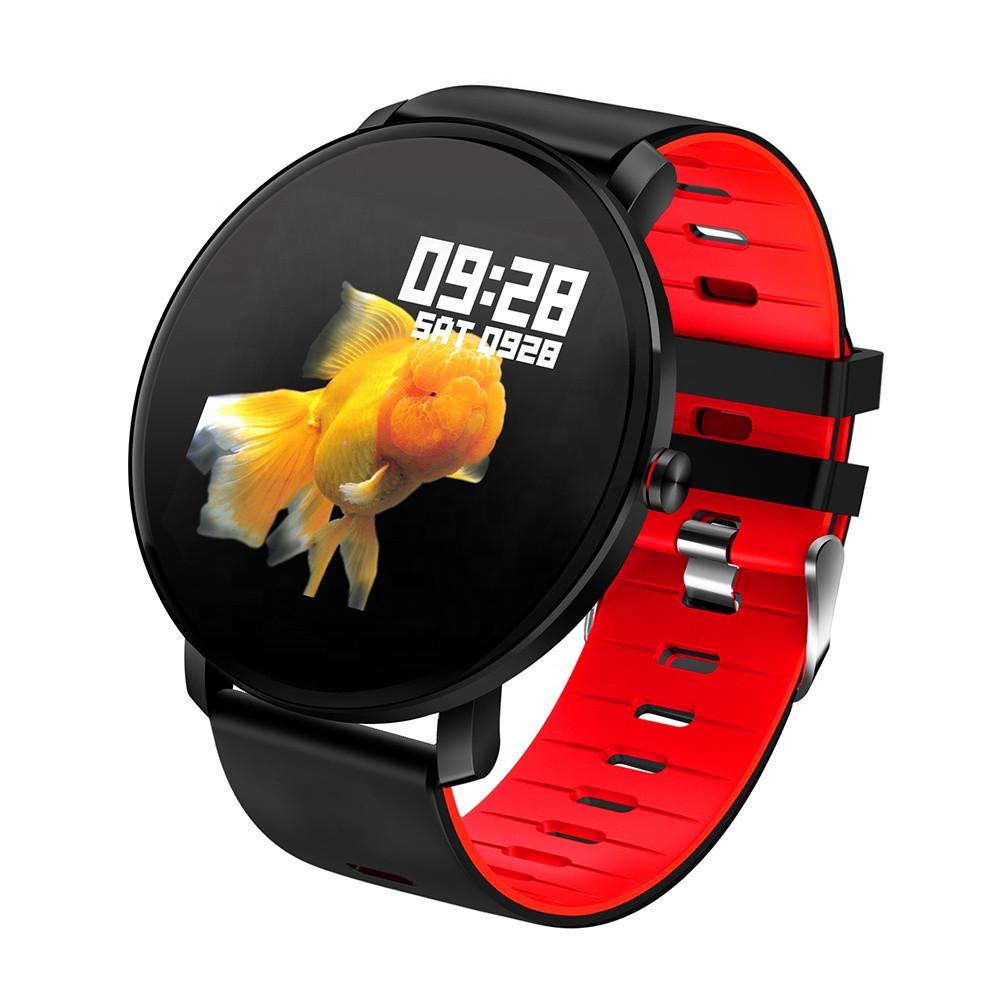 Смарт-часы влагостойкие AZhuo Digital Smartwatch K9 IP68 Black/Red (B5091219)