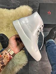 Мужские ботинки демисезонные  Yohji Yamamoto Y-3 Bashyo Full White(белый)