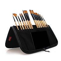 ВИДЕООБЗОР! Набор профессиональных кистей Artist Brush в пенале (холдере) 14 шт