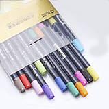 Набір двосторонніх акварельних маркерів для скетчинга з кистю на водній основі STA 48 кольорів (B141219), фото 8