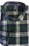 Рубашка мужская Gelix 1184-3 в клетку зеленая, фото 7