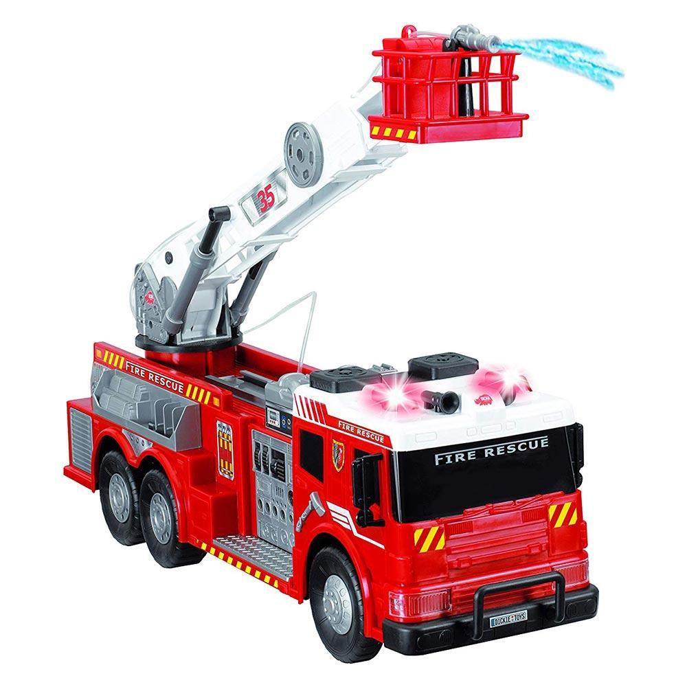 Большая детская пожарная машина со звуком, светом и водой 62 см Dickie Toys 3719003