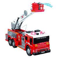 Большая детская пожарная машина со звуком, светом и водой 62 см Dickie Toys 3719003, фото 1