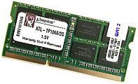 Оперативная память для ноутбука Kingston SODIMM DDR3 2Gb 1066MHz 8500s 2R8 CL7 (KTL-TP1066/2G) Б/У, фото 1