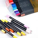 Набор двусторонних акварельных маркеров на водной основе STA 24 цвета (B141019), фото 5