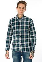 Рубашка мужская Gelix 1184-3 в клетку зеленая