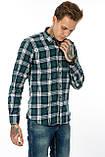 Рубашка мужская Gelix 1184-3 в клетку зеленая, фото 2
