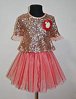 Нарядный костюм для девочек 122 размер блузка и юбка