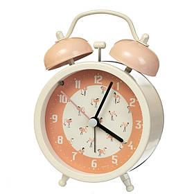 """Часы-будильник """"Лебеди"""" (11*8.5*5см) *рандомный выбор дизайна, 019AK"""
