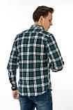 Рубашка мужская Gelix 1184-3 в клетку зеленая, фото 6
