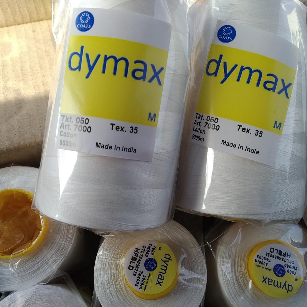 Нитка швейна  бавовняна Dymax Coats  5000м