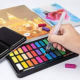 Подарочный набор акварельные краски для рисования Professional Paint Set 36 цветов в металлическом пенале, фото 2
